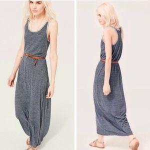 Lou & Grey Women Striped Long Maxi Dress Large